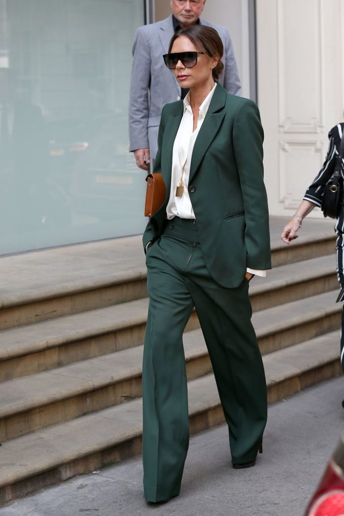 Victoria-Beckham-Style-green-suit
