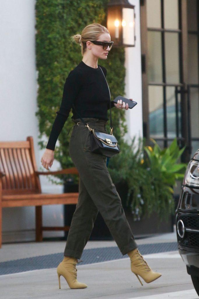 rosie-huntington-whiteley-green-pants
